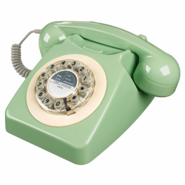 Retro 746 Push Button Telephone Swedish Green Phone