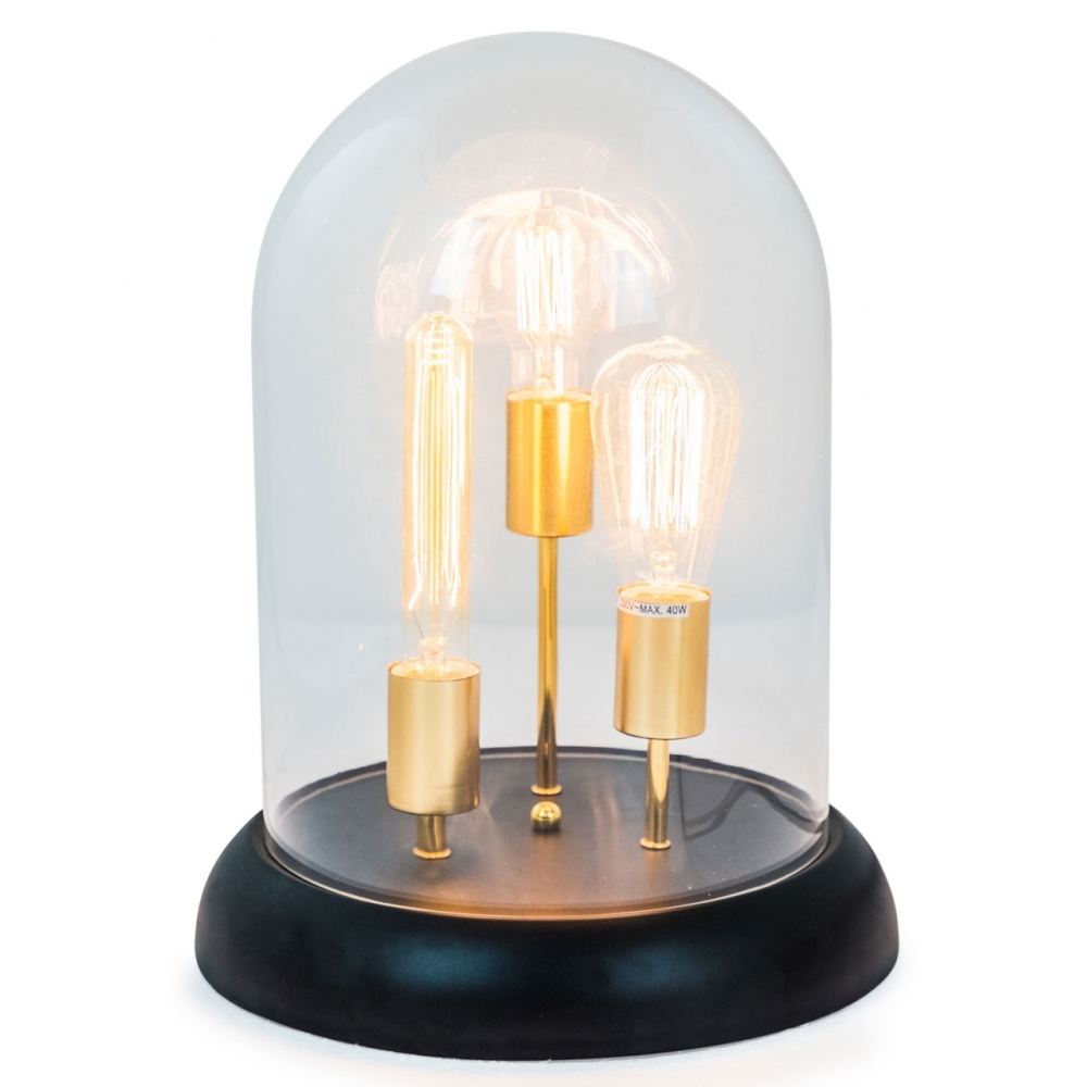 Retro Glass Dome 3 Light Table Lamp Hurn And Hurn