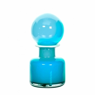 Retro Glass George Blue Vase - Azure