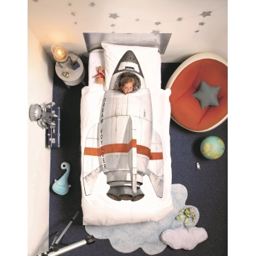 Rocket Dream Voyager Single Duvet Cover & Pillowcase Set