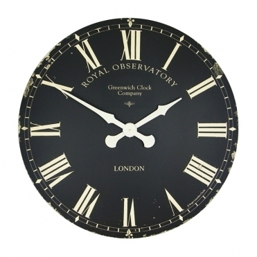 Extra Large Greenwich Dial Wall Clock Black 70cm