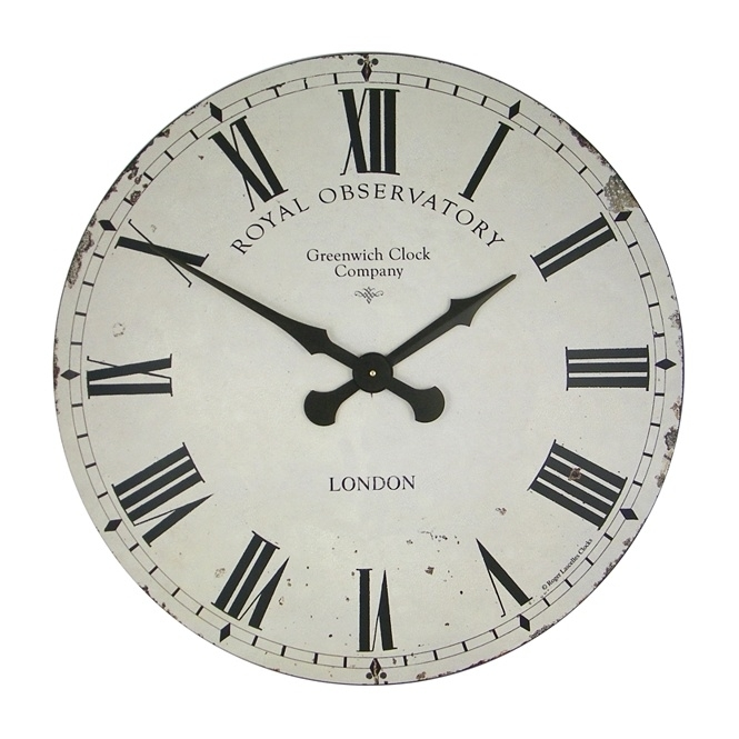 Roger Lascelles Extra Large Greenwich Dial Wall Clock Cream