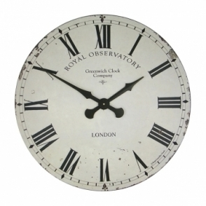 Extra Large Greenwich Dial Wall Clock Cream 70cm