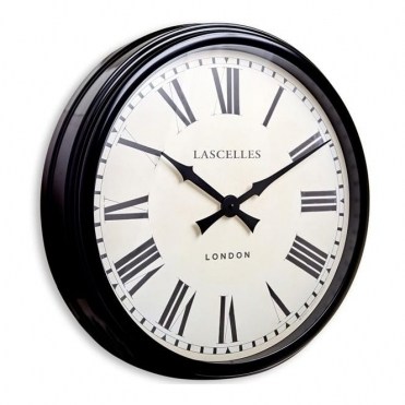 Large Black Station Clock 58cm