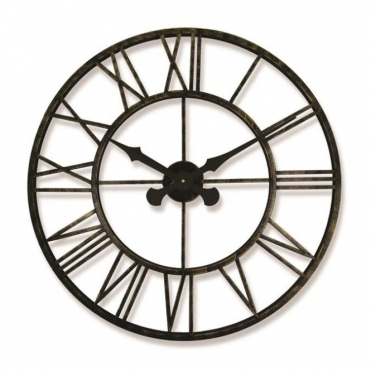 Outdoor / Indoor Skeleton Metal Wall Clock