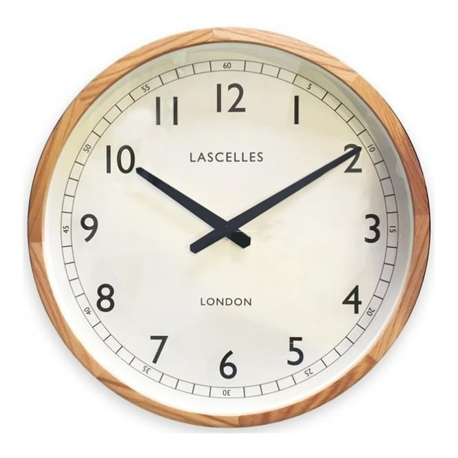 Roger Lascelles Wooden Oak Case Wall Clock