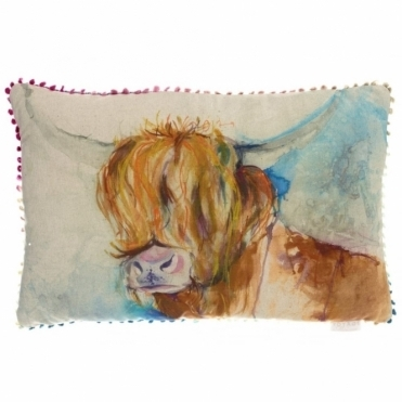 Rory Rectangular Cushion - Highland Cow