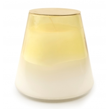Rose & Stardust Scented Candle - 2 Toned Glass Vessel