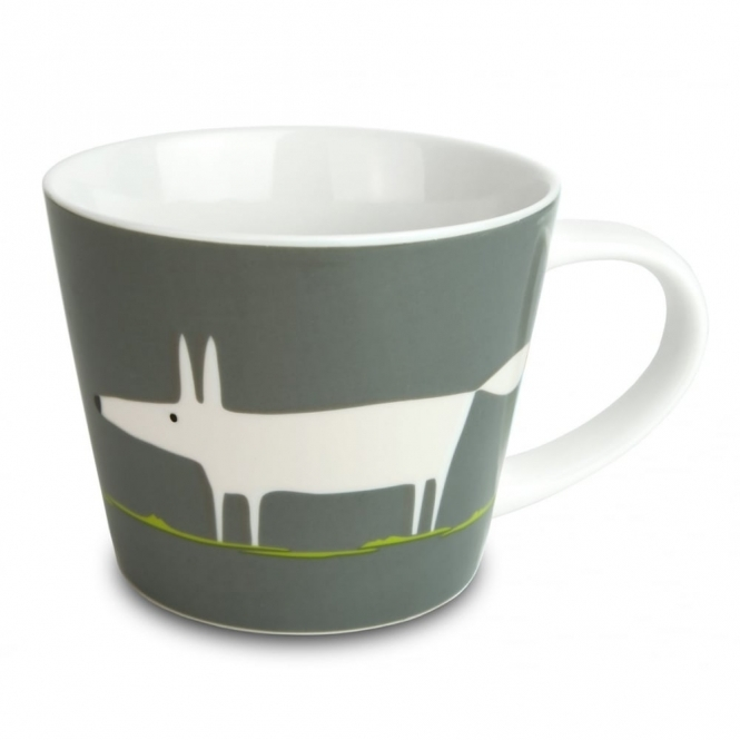 Large Mr Fox Mug - Charcoal & Lime