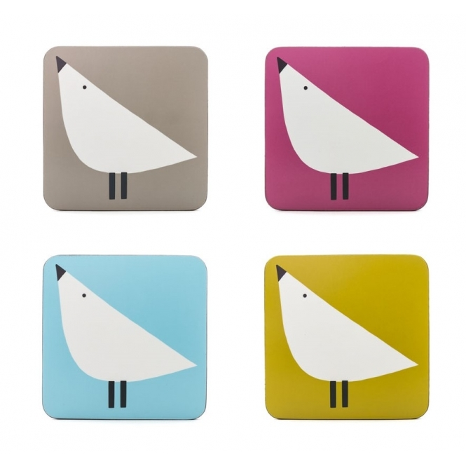 Lintu Birds Coasters - Set of 4