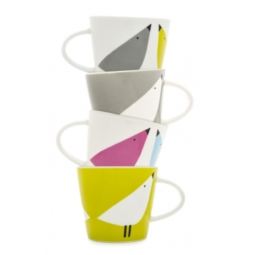 Lintu Birds Espresso Cups - Set of 4