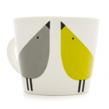 Lintu Birds Mug - Duck Egg, Sunshine & Slate