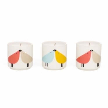 Lintu Birds Scented Candles - Set of 3