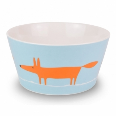 Mr Fox Bowl - Duck Egg & Orange