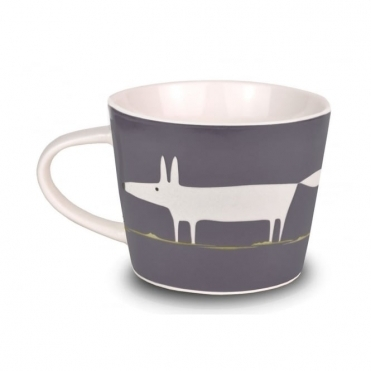 Mr Fox Mini Mug - Charcoal & Lime