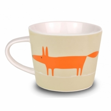 Mr Fox Mini Mug - Neutral & Orange