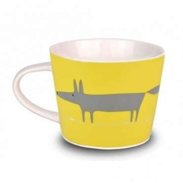 Mr Fox Mini Mug - Yellow & Charcoal