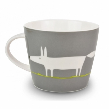 Mr Fox Mug - Charcoal & Lime