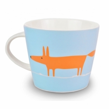 Mr Fox Mug - Duck Egg & Orange