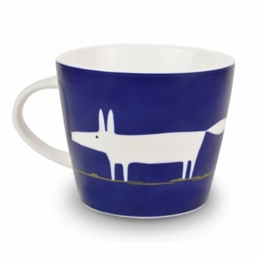 Mr Fox Mug - Indigo
