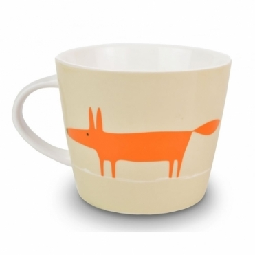 Mr Fox Mug - Neutral & Orange