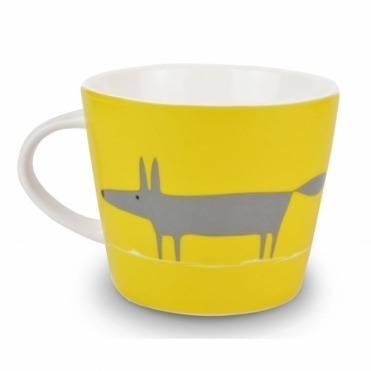 Mr Fox Mug - Yellow & Charcoal