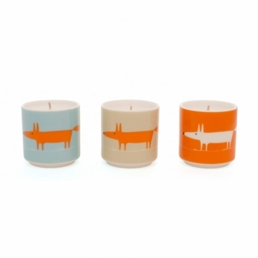 Mr Fox Scented Candles - Set of 3