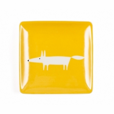 Mr Fox Trinket Dish - Marigold Yellow