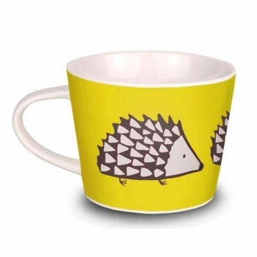 Spike the Hedgehog Mini Mug - Yellow & Charcoal