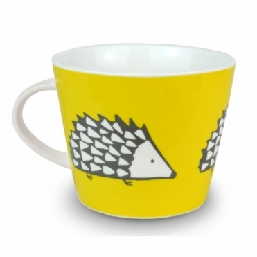 Spike the Hedgehog Mug - Yellow & Charcoal