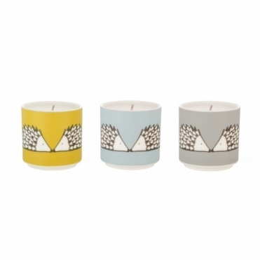 Spike the Hedgehog Scented Candles - Set of 3