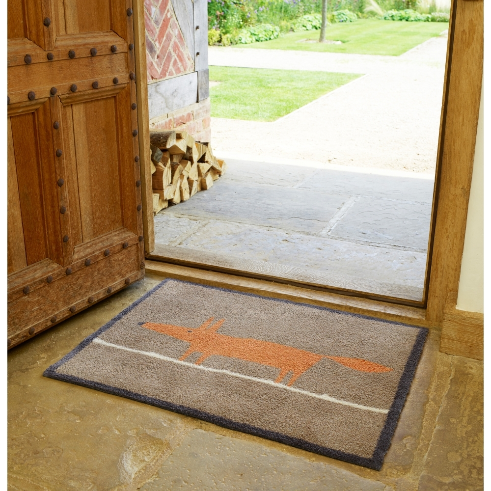 Scion mr fox indoor door mat