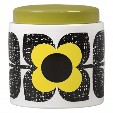 Scribble Square Flower Storage Jar - Sunshine