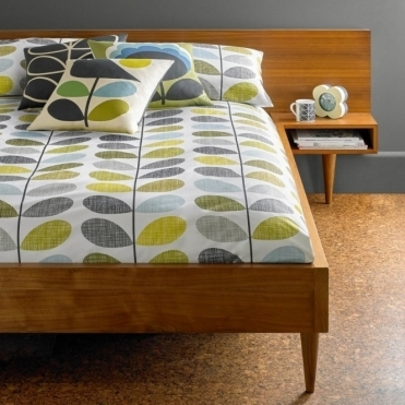 Scribble Stem Duck Egg & Seagrass Duvet Cover - Double