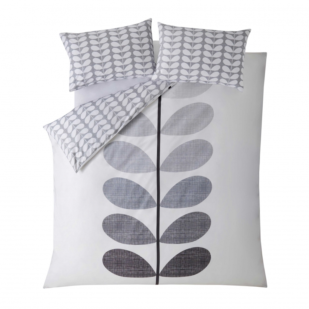 Orla Kiely Scribble Stem Pebble Grey Duvet Cover King