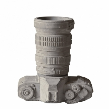 Cement Camera Desk Organiser / Plant Pot / Vase