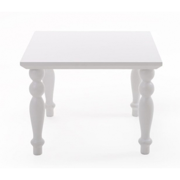 Heritage Square Coffee Table - White
