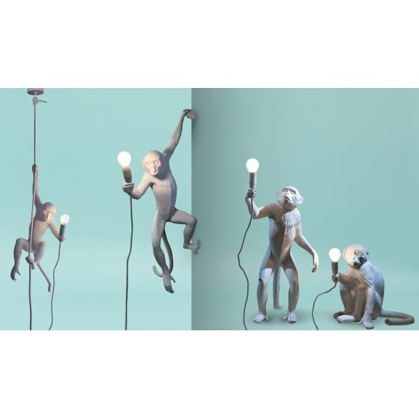 Seletti Monkey Lamp Hanging Ceiling Light With Rope