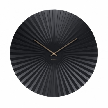 Sensu XL Steel Wall Clock - Black