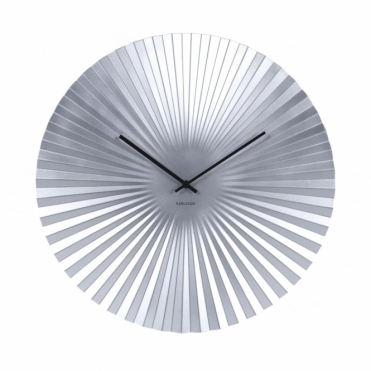 Sensu XL Steel Wall Clock - Silver