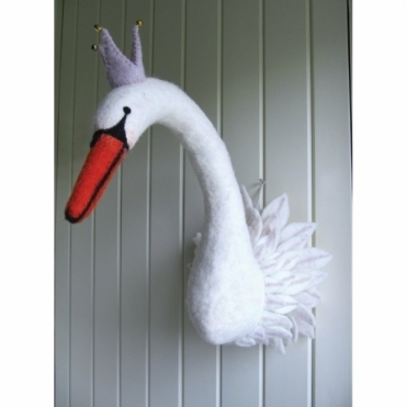 Odette Swan Princess Felt Animal Head