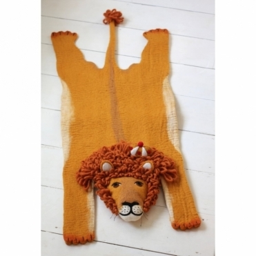 Prince Leopold the Lion Felt Animal Rug