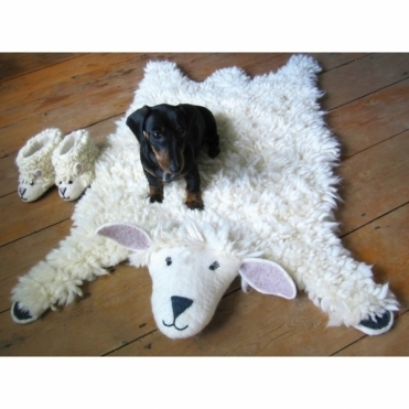Sheep Felt Animal Rug