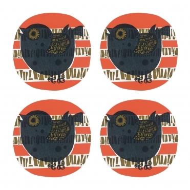 Shadow Bird Coasters in Gift Box - Set of 4