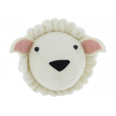 Sheep Felt Animal Wall Head - Mini