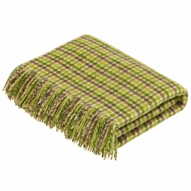 Shetland Wool Chicago Lime Throw Blanket