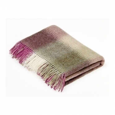 Shetland Wool Kilnsey Fern Throw Blanket