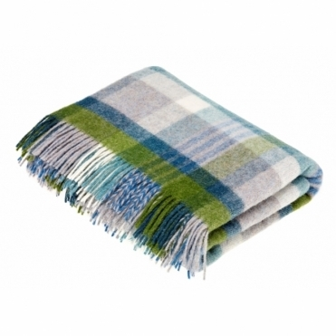Shetland Wool Melbourne Jade Throw Blanket