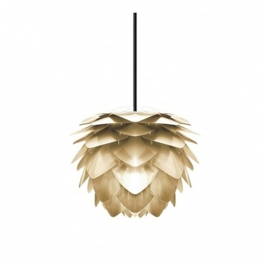 Silvia Mini Pendant Light / Table Lamp Shade - Brushed Brass