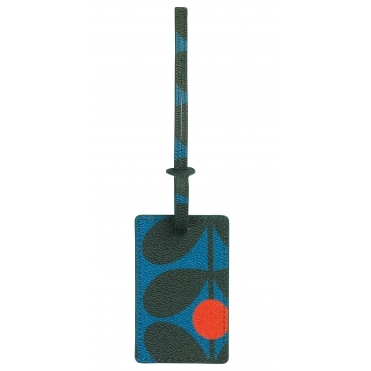 Sixties Stem Luggage Tag - Kingfisher